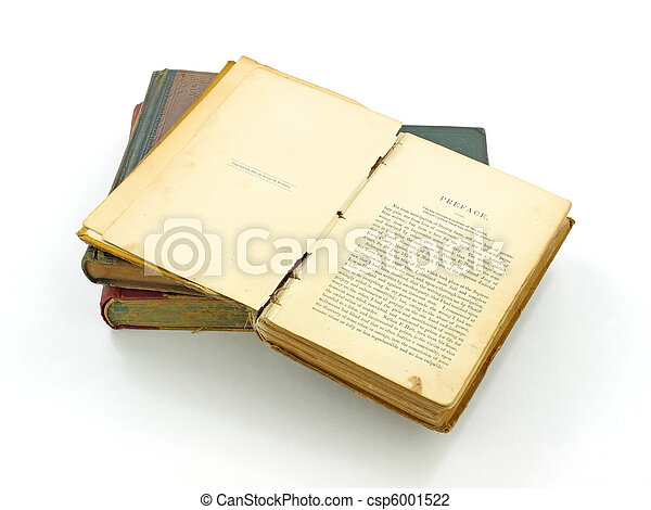 Very old book opened - csp6001522