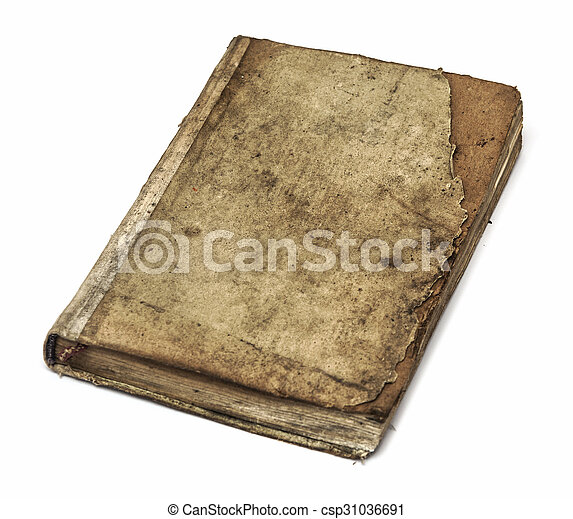 Very old book's cover - csp31036691