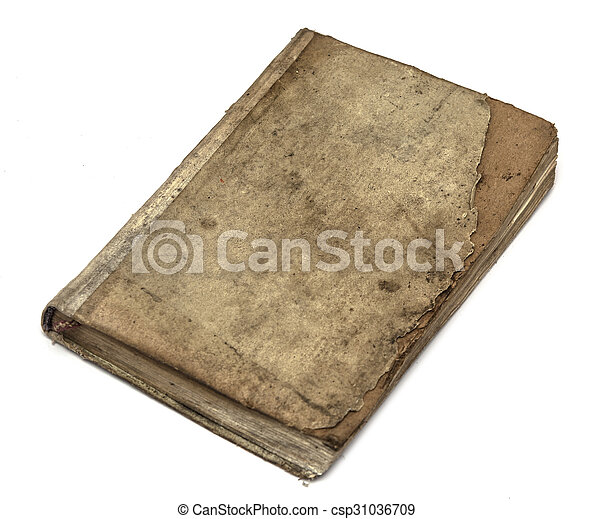 Very old book's cover - csp31036709
