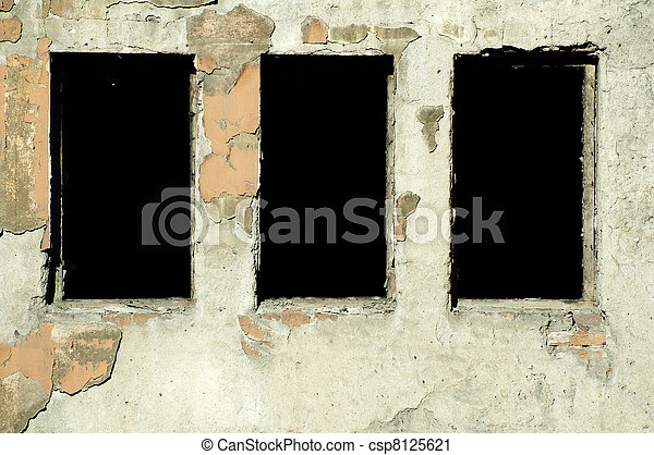 Very old building windows - csp8125621