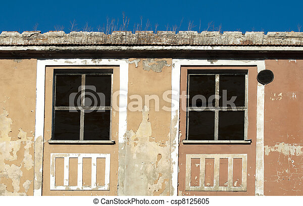 Very old building windows - csp8125605