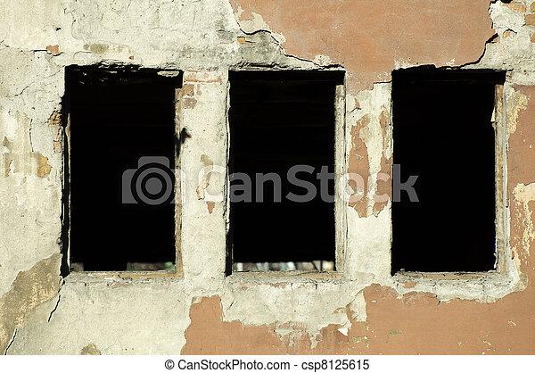 Very old building windows - csp8125615