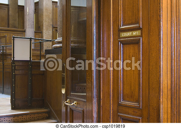 Very old courtroom (1854) at St Georges Hall, Liverpool,UK - csp1019819
