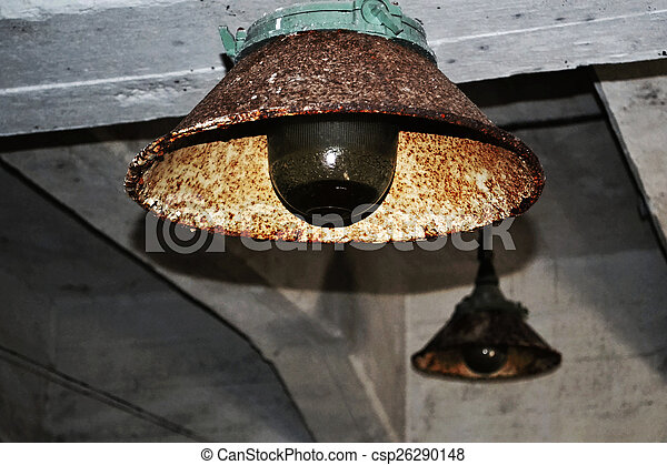 old industrial lighting. Very Old Industrial Lighting Lamp Stock Photo