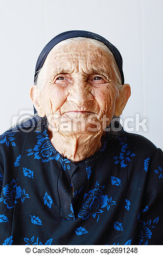 Very old woman portrait - csp2691248