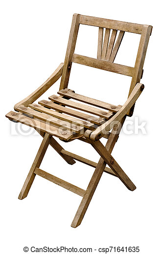 Old Wooden Folding Chairs.Very Old Wooden Folding Chair