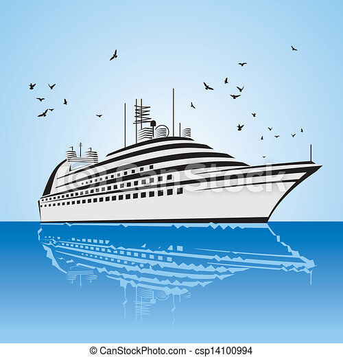 A Very Realistic View Of Cruise Ship Similar To The Freedom - Draw a cruise ship