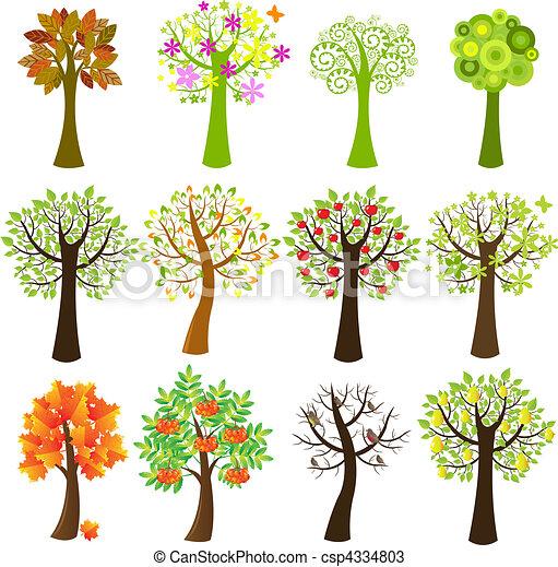 verzameling, bomen - csp4334803