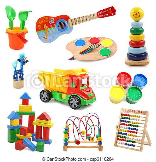 verzameling, speelgoed - csp6110264