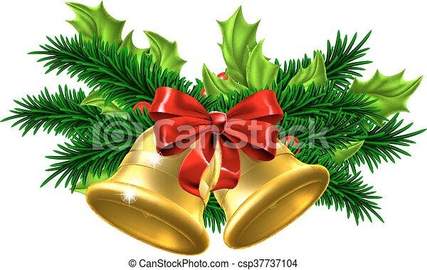 verzierung weihnachtsglocken glocken gold festlicher. Black Bedroom Furniture Sets. Home Design Ideas