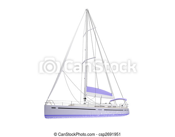 Vessel boat isolated front view - csp2691951