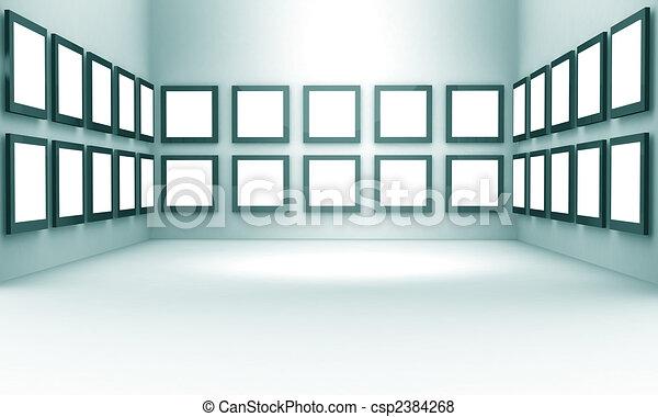 Concepto de exhibición de galerías de fotos - csp2384268
