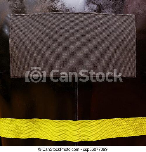 veste, pompier, vide - csp56077099