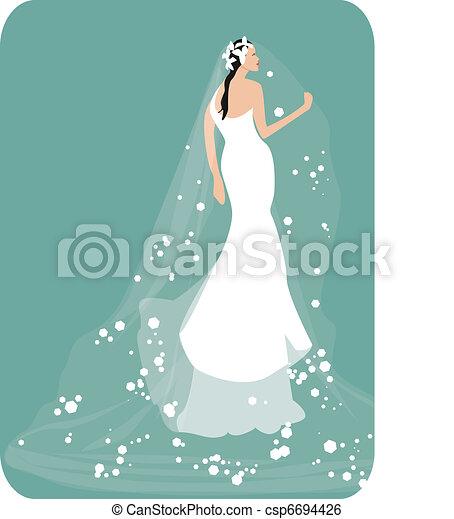 Vestido de boda - csp6694426