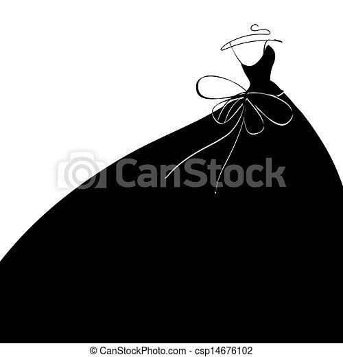 vestido, boda - csp14676102