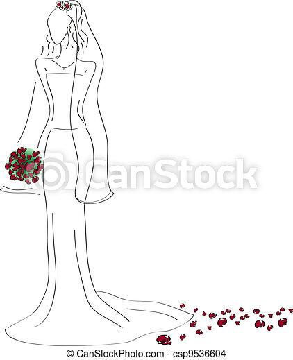 Vestido de boda - csp9536604