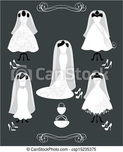 Vestido de boda - csp15235375