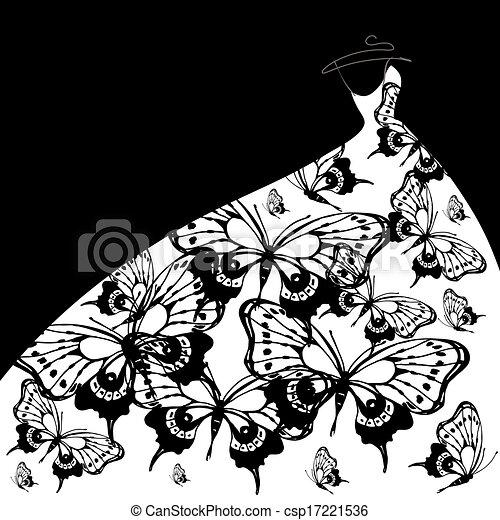 Vestido de boda - csp17221536