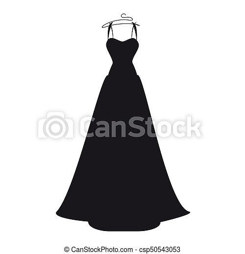 Vestido Branca Pretas Desenho Casorio