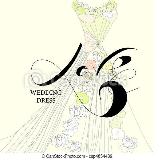 Vestido de boda - csp4854439