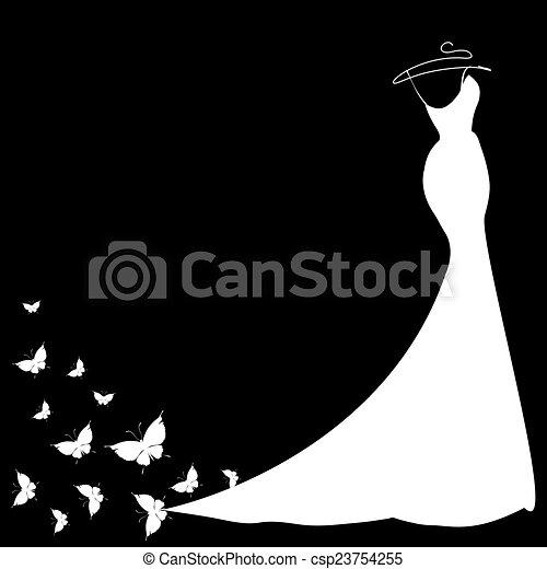 vestido, diseño - csp23754255