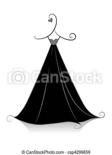 vestido negro - csp4299659