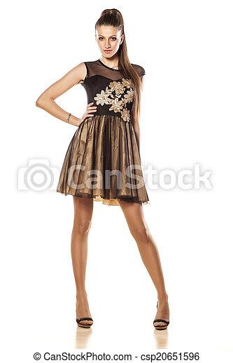 vestido noite - csp20651596