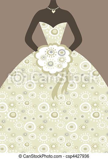 vestido nupcial - csp4427936
