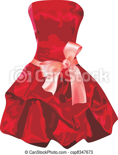vestido, rojo - csp8347673