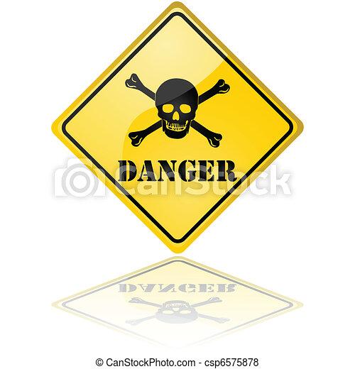 veszély cégtábla - csp6575878
