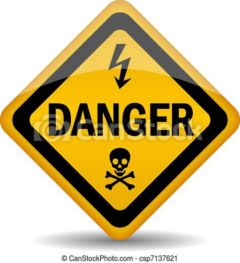 veszély, felszólít cégtábla - csp7137621