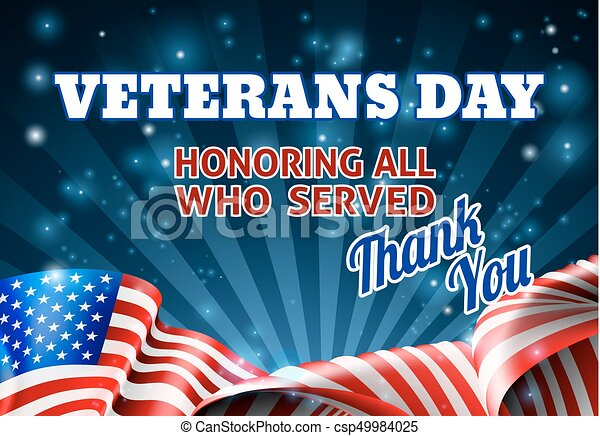 Veterans Day American Flag Background A Veterans Day Background