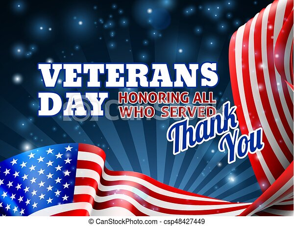 Veterans Day Background American Flag Design A Veterans Day