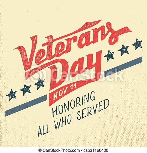 Veterans day holiday typographic design veterans day greeting card veterans day holiday typographic design csp31168488 m4hsunfo