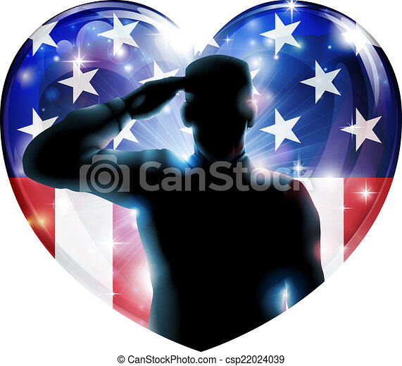 Veterans day soldier or 4th July concept - csp22024039