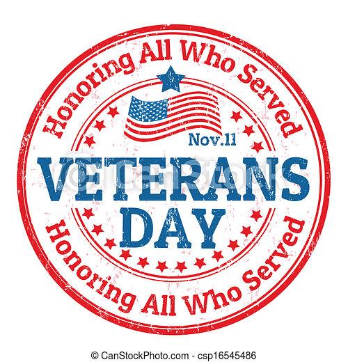 Veterans Day stamp - csp16545486