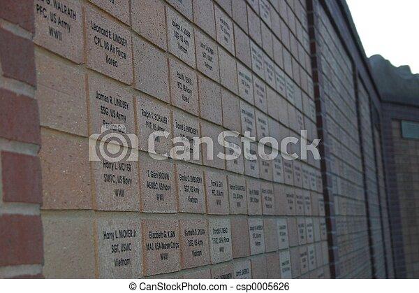 Veteran's Wall - csp0005626
