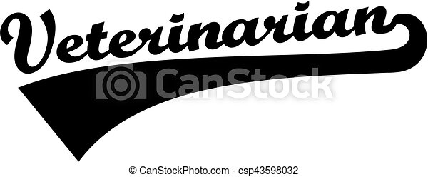 Veterinarian retro word - csp43598032