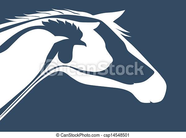 Veterinary logo over b...