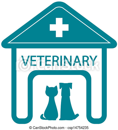 veterinary symbol with home clinic  - csp14754235