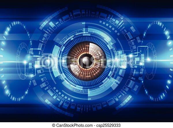 vetorial, abstratos, sistema, ilustração, fundo, segurança, futuro, tecnologia - csp25529333