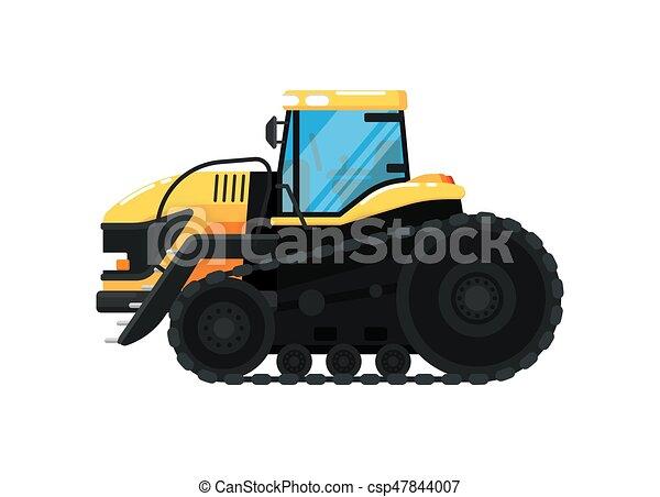 vetorial, agricultura, trator, ilustração, crawler - csp47844007