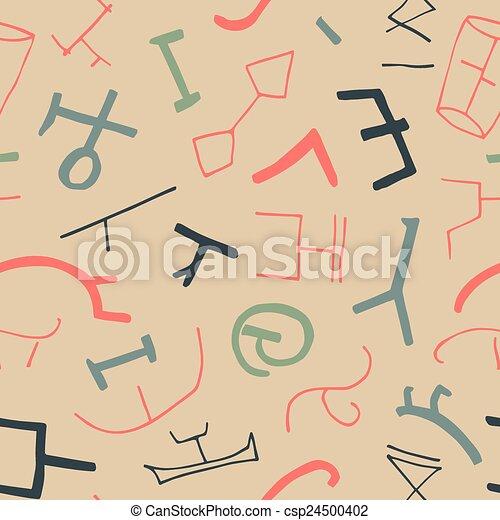 vetorial, ancien, seamless, textura - csp24500402