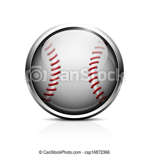 vetorial, basebol, ícone - csp16872366