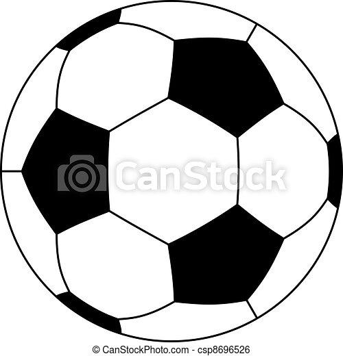 vetorial, bola futebol - csp8696526