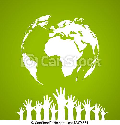 vetorial, cartaz, unidade, global - csp13874861