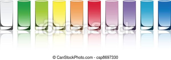 vetorial, colorido, óculos - csp8697330