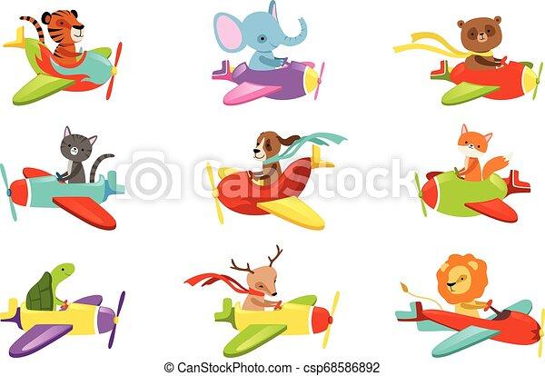 Vetorial Cute Ou Jogo Animais Creatures Coloridos