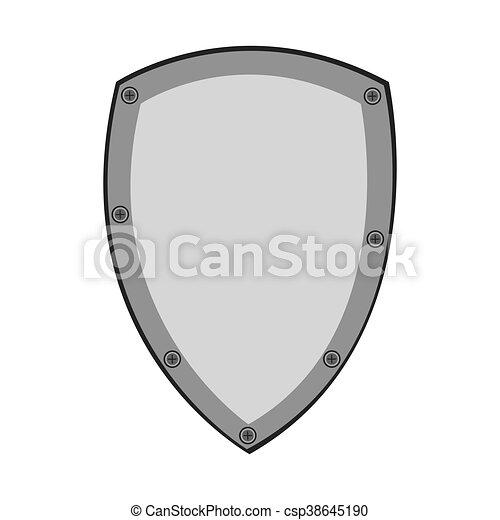 vetorial, desenho, escudo, proteção - csp38645190