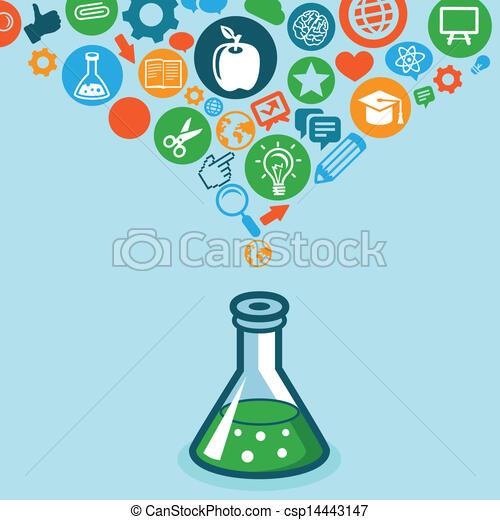vetorial, educação, ciência, conceito - csp14443147